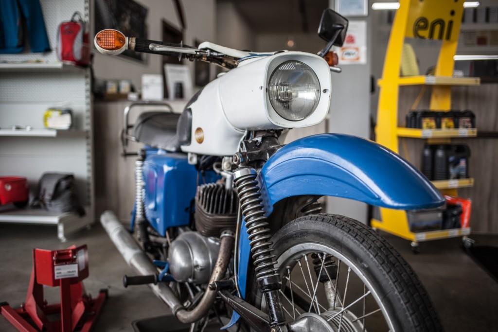 Altes Motorrad KFZ Maier